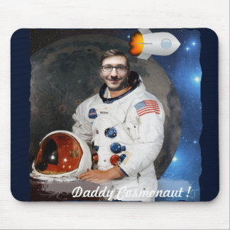 Cosmonaut, Shuttle, Space - with YOUR Photo & Text Mouse Pad