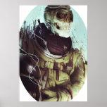 Cosmonauta del cráneo del caramelo poster