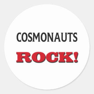Cosmonauts Rock Round Stickers