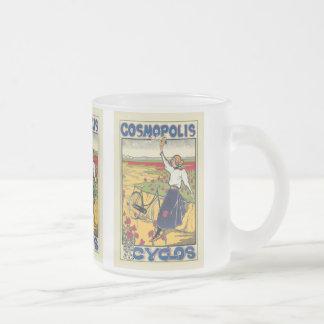 Cosmopolis Cyclos Vintage Bicycle Ad Mug