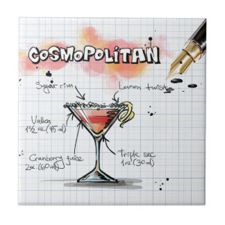 Cosmopolita Azulejo Cuadrado Pequeño