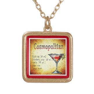cosmopolitan-854409 COSMOPOLITAN  RECIPE ALCOHOLIC Square Pendant Necklace