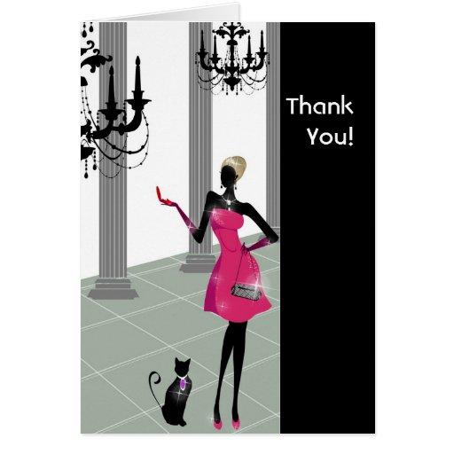 Cosmopolitan Chic Thank You Cards
