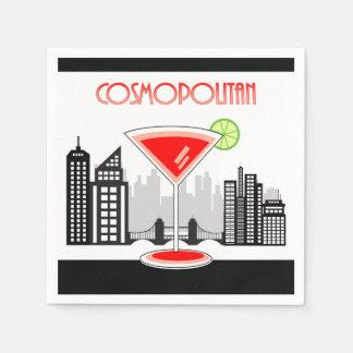 Cosmopolitan Cocktail Napkin, Lounge Theme Paper Napkin