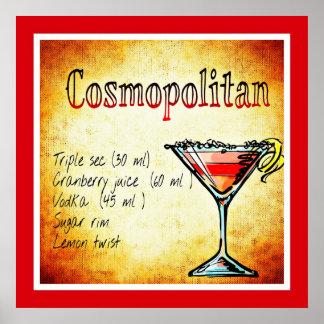 Cosmopolitan Cocktail Poster