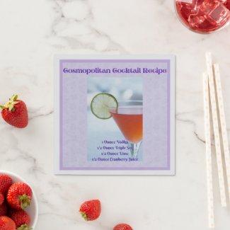 Cosmopolitan Cocktail Recipe Cocktail Napkins