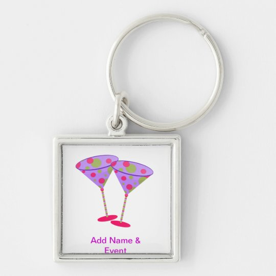 Cosmopolitan Martini Party Time ! Keychain