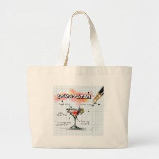 Cosmopolitan Recipe - Cocktail Gift Large Tote Bag