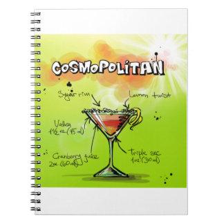 Cosmopolitan Recipe - Cocktail Gift Notebook