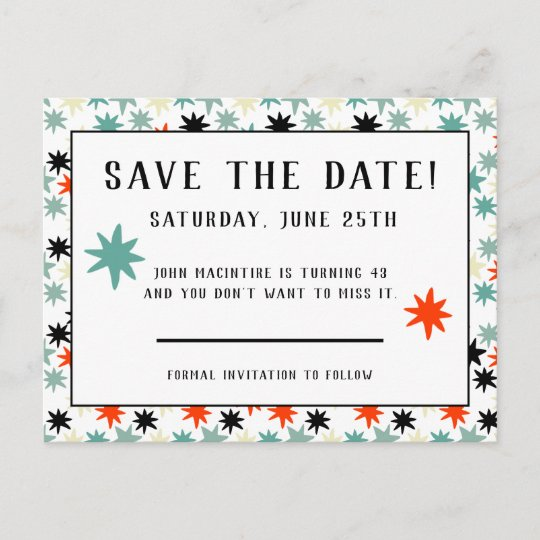 cosmopolitan stars save the date birthday party announcement