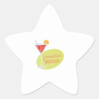 Cosmopolitan Woman Star Sticker