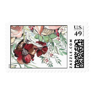 Cosmos and Berries Postage