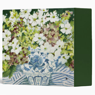 Cosmos and hydrangeas in a chinese vase 2013 binder