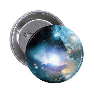 Cosmos azul del universo pin redondo de 2 pulgadas