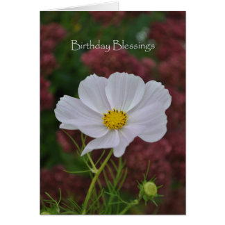 Cosmos Birthday Blessings Greeting Card