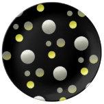 Cosmos Black Porcelain Plate