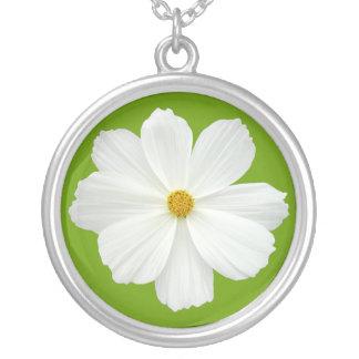 Cosmos blanco - verde del aguacate colgante redondo