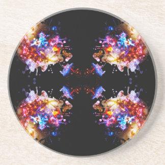 Cosmos colorido de CosmosColorful Posavasos Cerveza