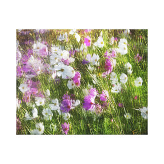 Cosmos Dancing in the Wind Print Canvas Print