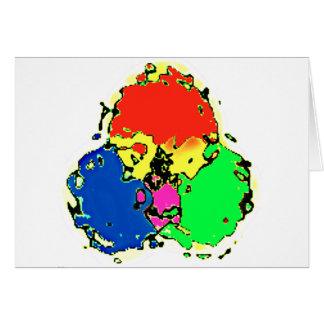 cosmos de la trinidad tarjeta de felicitación