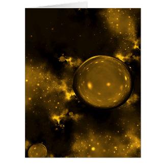 Cosmos de oro tarjeta de felicitación grande
