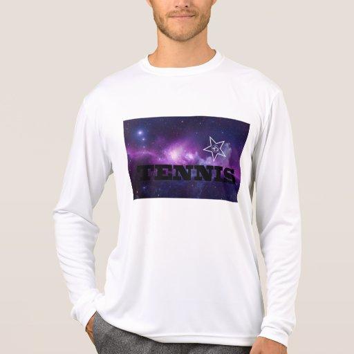 Cosmos del tenis para él camiseta