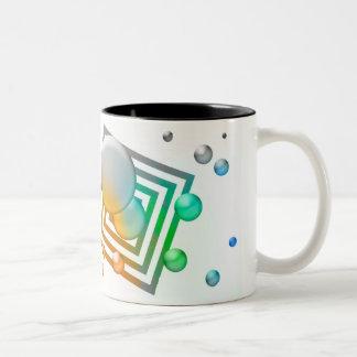Cosmos design Two-Tone coffee mug