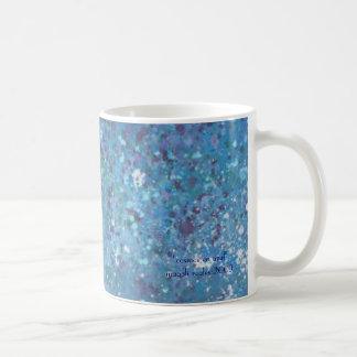 cosmos en azul coffee mug
