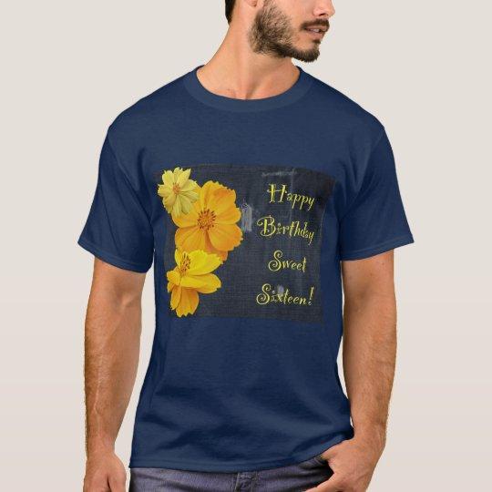 Cosmos Floral Birthday Sweet Sixteen T-Shirt
