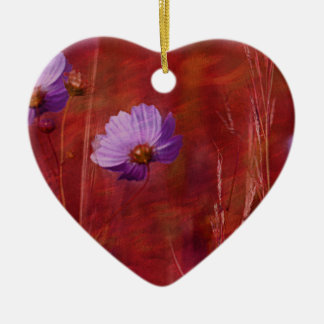 Cosmos Flower Gifts Ceramic Ornament