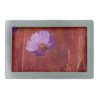 Cosmos Flower Gifts Rectangular Belt Buckle