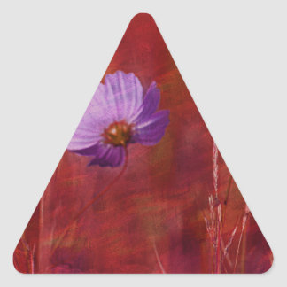 Cosmos Flower Gifts Triangle Sticker