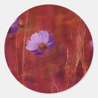 Cosmos Flower Gifts Classic Round Sticker
