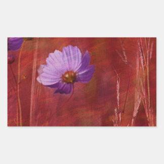 Cosmos Flower Gifts Rectangular Sticker