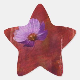 Cosmos Flower Gifts Star Sticker