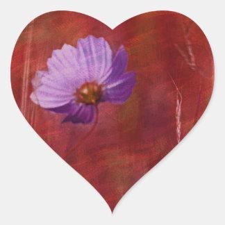Cosmos Flower Gifts Heart Sticker