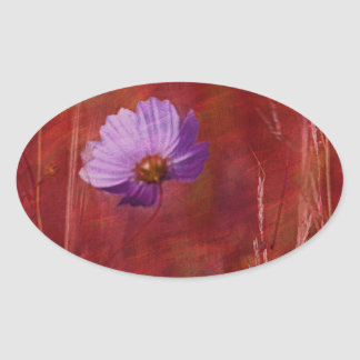 Cosmos Flower Gifts Oval Sticker