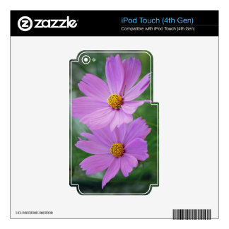 Cosmos flower iPod touch 4G decals
