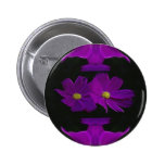 Cosmos flower pinback buttons