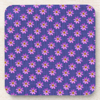 Cosmos Flower with Blue background Drink Coasters