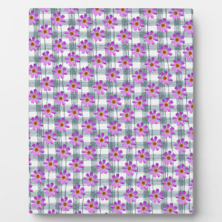 Cosmos flower with line background plaques