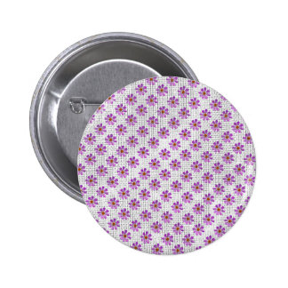 Cosmos Flowers Pinback Button
