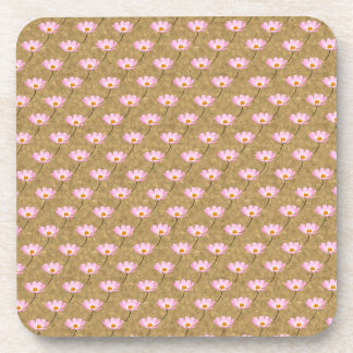 Cosmos flowers beverage coaster