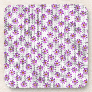 Cosmos Flowers Beverage Coasters