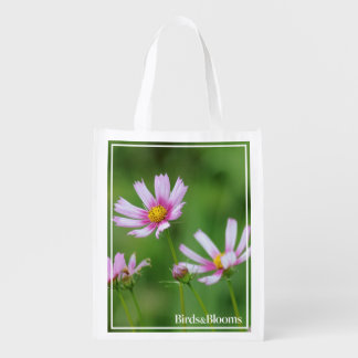 Cosmos Flowers Reusable Grocery Bag