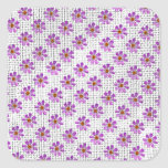Cosmos Flowers Square Stickers