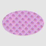 Cosmos Flowers with pink background Stickers
