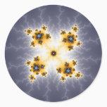 Cosmos - Fractal Classic Round Sticker