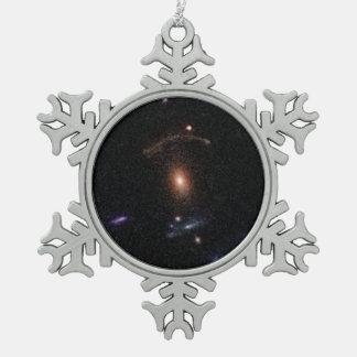 COSMOS Gravitational Lens 0211+1139 Snowflake Pewter Christmas Ornament