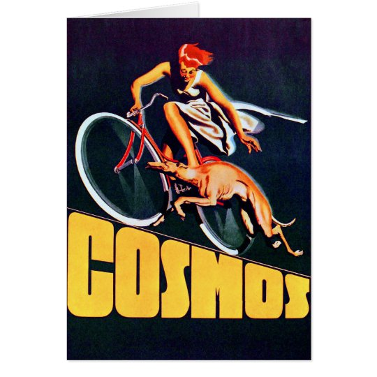 Cosmos Greyhound Bicycle Card